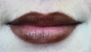 Lips, after 4 hours and lunch